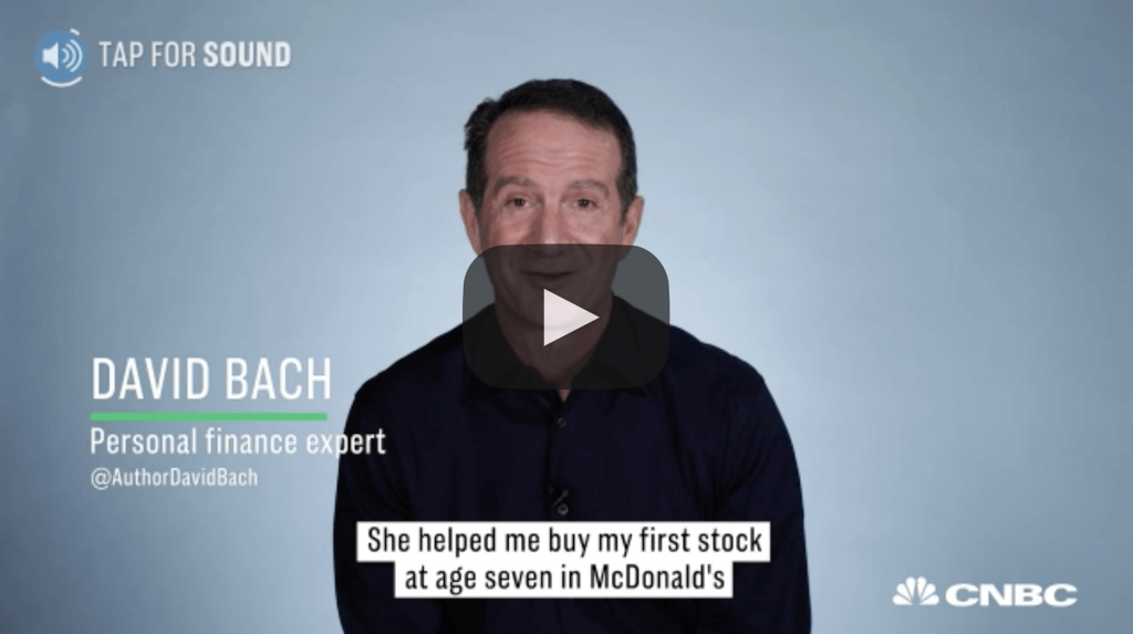 718bffb007 Self-made millionaire and co-founder of AE Wealth Management David Bach  started investing early: He bought his first stock at age seven.